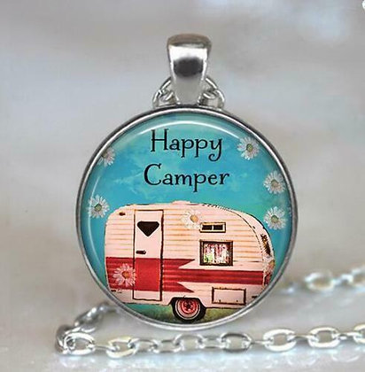 Happy Camper Pendant and Chain