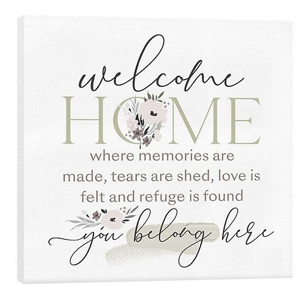 """""""WELCOME HOME WHERE MEMORIES ARE MADE"""" CANVAS"""
