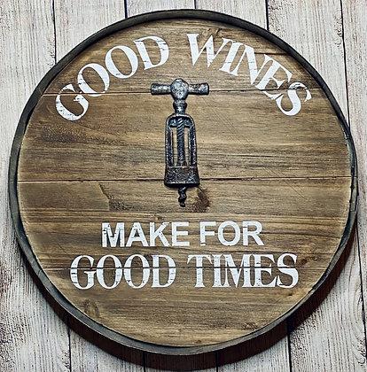 WOOD/TIN GOOD TIME WINE SIGN