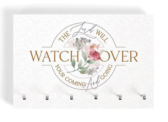 """""""THE LORD WILL WATCH"""" KEY HOLDER"""