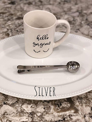 Stainless Steel Coffee Scoop With Coffee Bag Clip