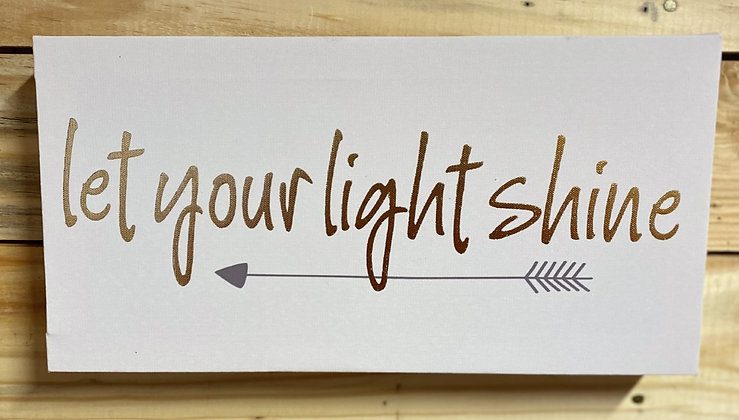 Let Your Light Shine Canvas Wall Hanging