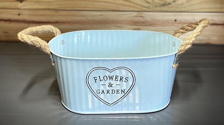 Flowers & Garden Medium Metal Bucket