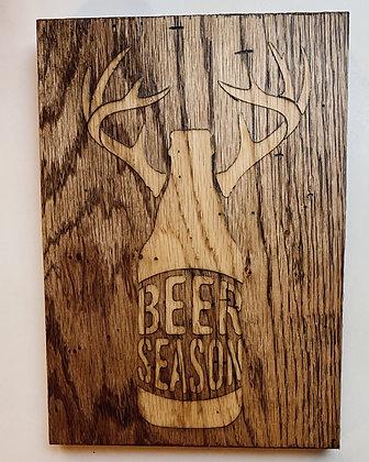 Beer Season Wood Sign