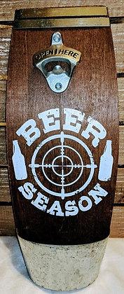 Wooden Beer Season Bottle Opener Sign