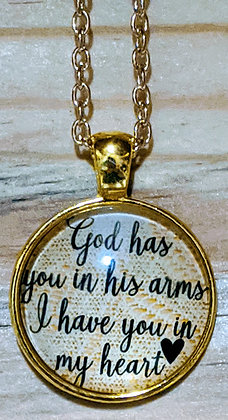 God Has You In His Arms Memory Necklace GOLD