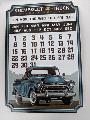 Chevrolet Calendar Sign