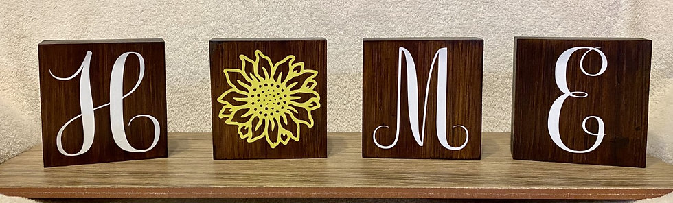 Home Wooden Blocks Sign