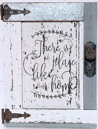 There Is No Place Like Our Home Wood Barn Door Sign