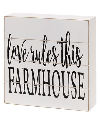 Love Rules This Farmhouse Shiplap Box Sign