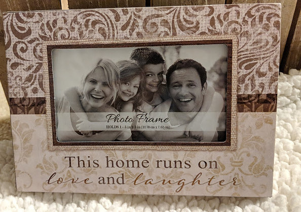This Home Runs on Love and Laughter Frame