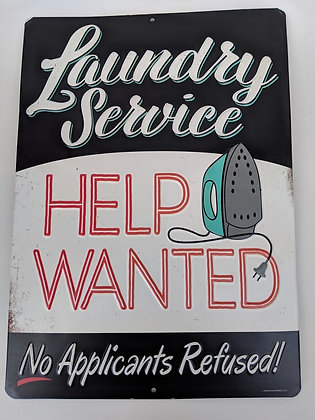 Laundry Service Help Wanted Sign