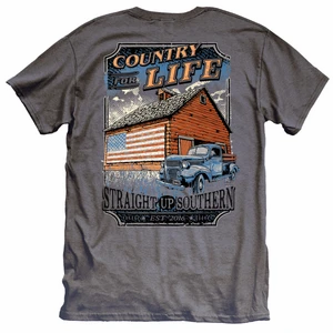 Straight Up Southern Country For Life T-Shirt