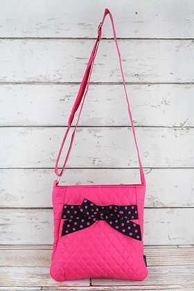 NGIL Hot Pink and Black Crossbody Bag
