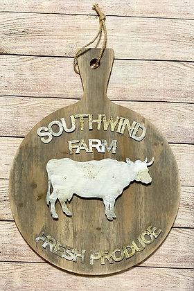 Southwind Farm...Fresh Produce Wooden Cutting Board
