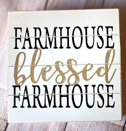 Farmhouse Blessed Farmhouse Shiplap Box Sign