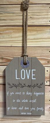 Decorative Love Wood Sign Wall Decor