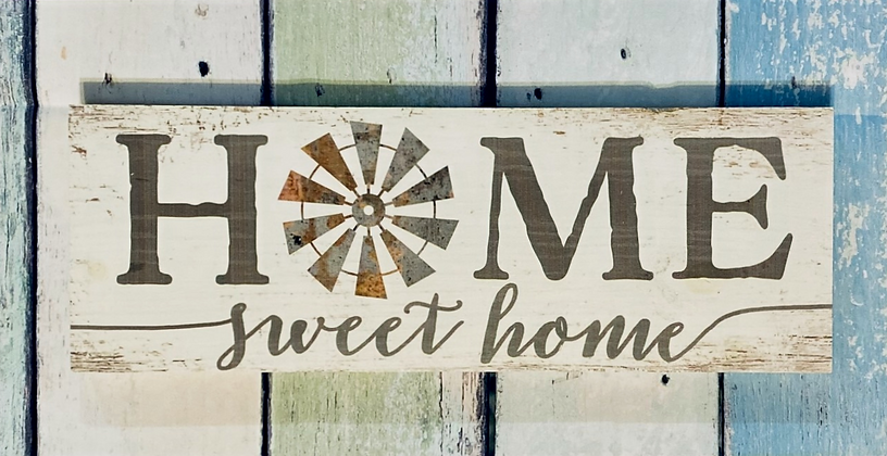 Home Sweet Home Windmill Pallet Sign