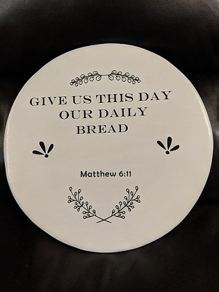 Lazy Susan with bible verse