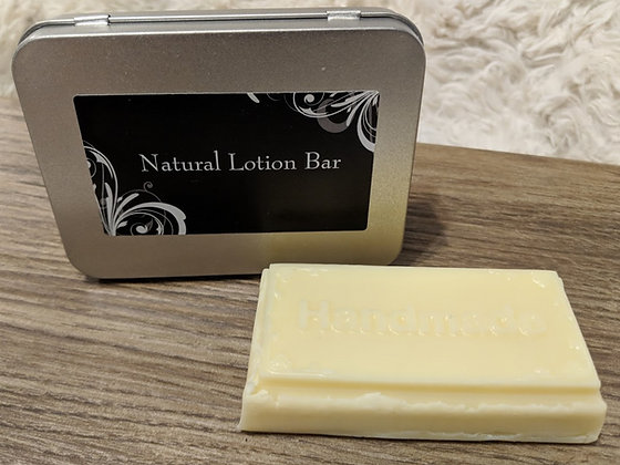 Natural Lotion Bar with tin