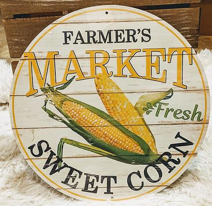 Farmer's Market Fresh Sweet Corn Sign