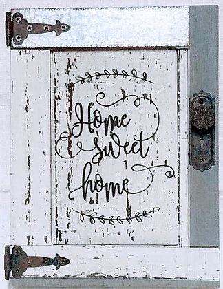 Home Sweet Home Wood Barn Door Sign