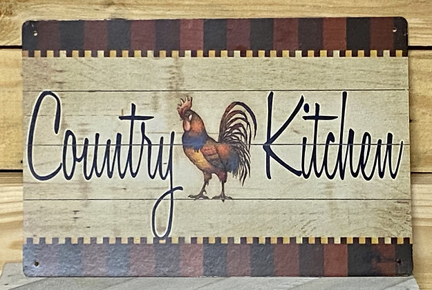 Country Kitchen Tin Sign **SOLD AS IS**