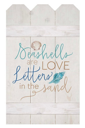 """""""SEASHELLS...LETTERS IN THE SAND"""" PALLET DECOR"""