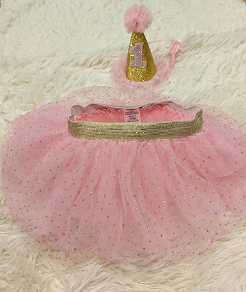 12-18 month ballerina headband and tutu