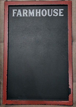 12 x 18 Red Farmhouse Chalkboard