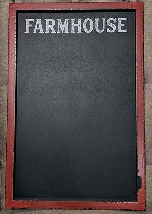 12 x 18 Red Farmhouse Chalkboard