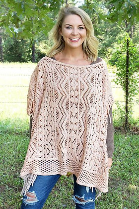 New York Nights Poncho, Pink