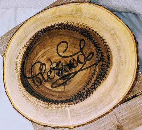 """13 inch """"Blessed"""" Wood Server"""