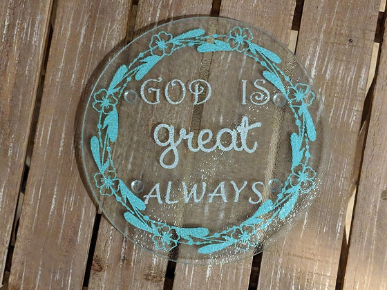 God is great always decorative hot plate