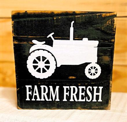 Farm Fresh Wood Box Sign
