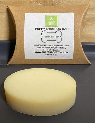 Unscented Puppy Shampoo Bar