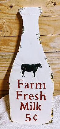 Farm Fresh Milk Sign