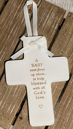 A Baby Sent From Up Above Ceramic Plaque