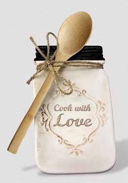 """COOK WITH LOVE"" SPOON REST"