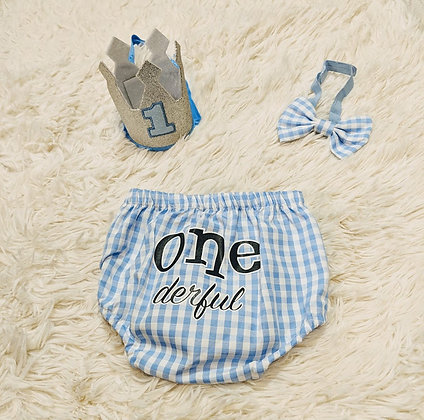 12-18 month King One-derful outfit
