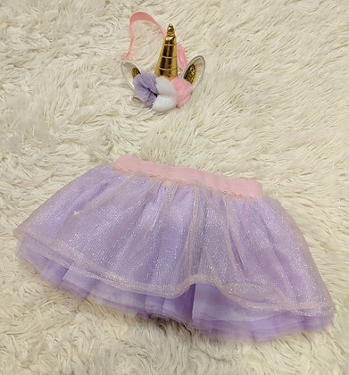 0-12 months unicorn headband and tutu