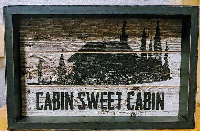 Clearance--Cabin Sweet Cabin
