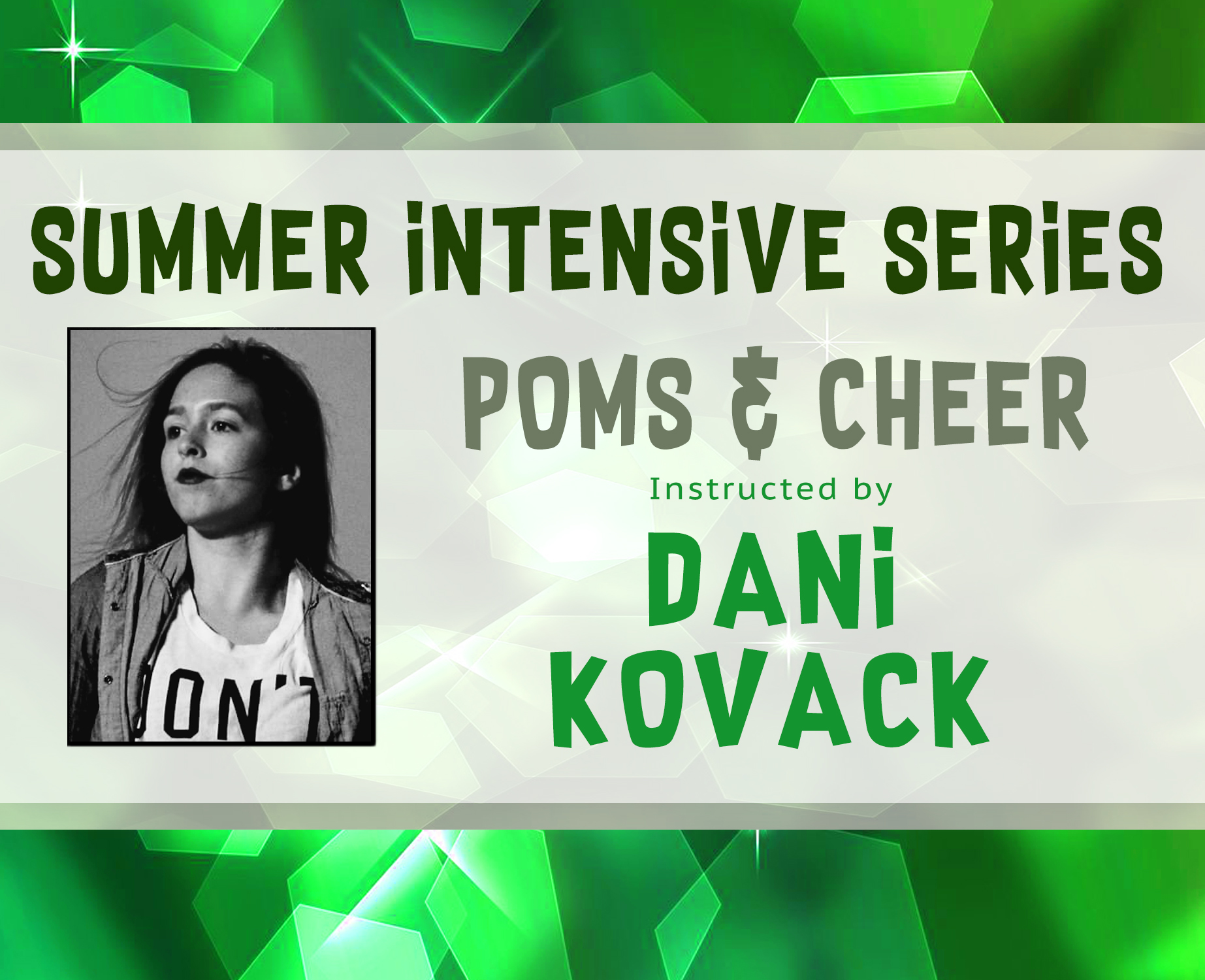 Poms & Cheer Intensive Banner