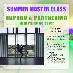 Summer Master Class - Improv