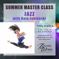 Summer Master Class - Jazz