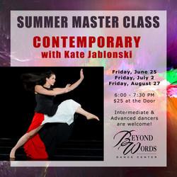 Summer Master Class - Contemporary