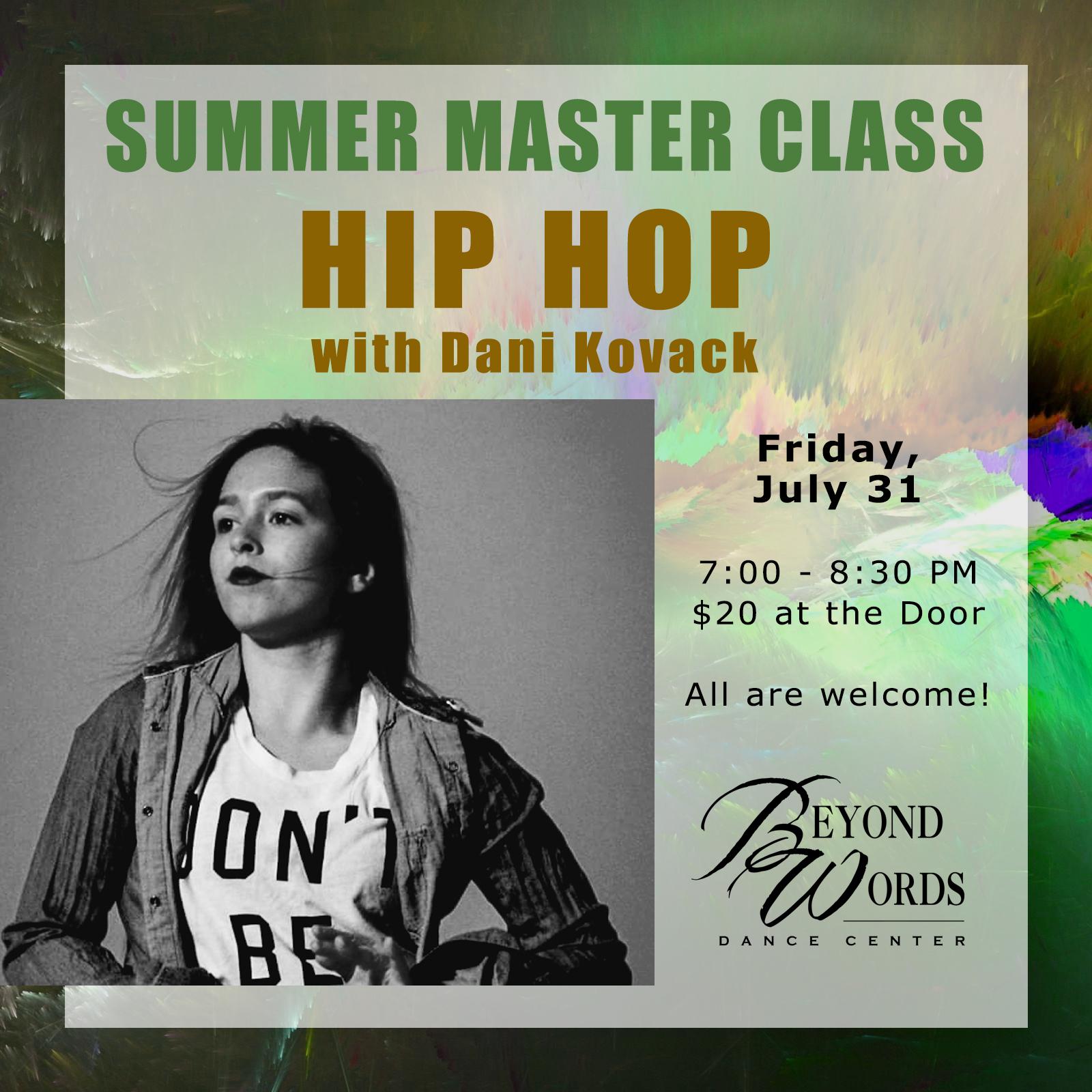 Summer Master Class - Hip Hop
