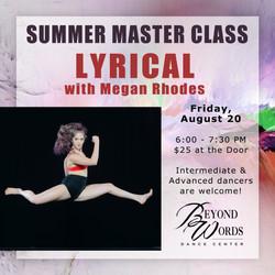 Summer Master Class - Lyrical