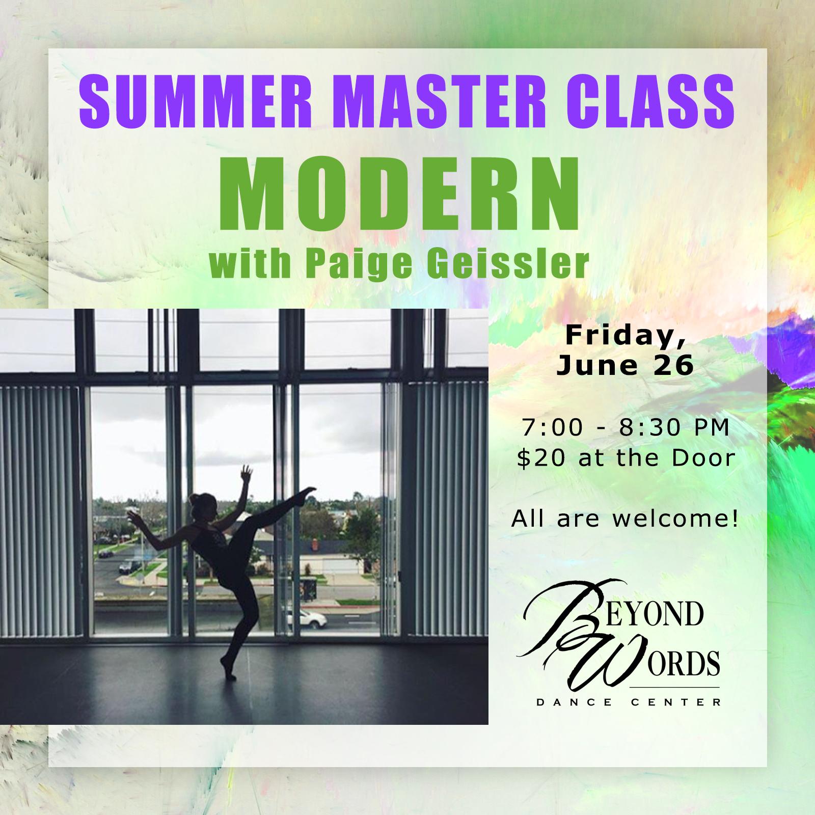 Summer Master Class - Modern