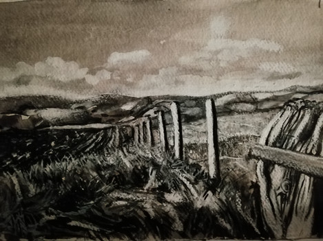 Walking with Clouds Study SOLD